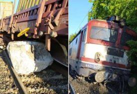 TERETNI VOZ ISKOČIO IZ ŠINA U nesreći kod Mostara lakše povrijeđeni dvojica mašinovođa
